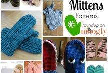 CROCHET KNITTING MITTENS stitches