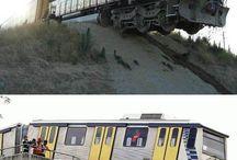 Train derailments