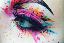 Arristic eye makeup