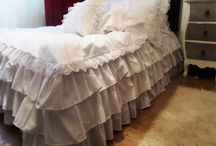 Vintage beddings / High quality Vintage beddings with lace and ruffles