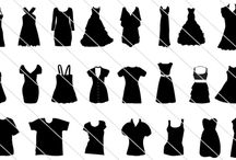 Dress Silhouette Vector / Set of 75 dress silhouette vector isolated on white background. A nice assortment of fashion dress to wear for anyone age group of women.
