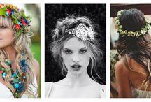flores nos cabelos