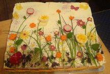 Salty cake decoration