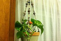 Colgadores de plantas macrame