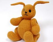 Rabbits / knitting patterns and design ideas / by Claire Fairall Designs