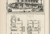 Old houses architectural plans