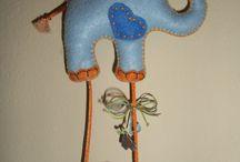 Οι δημιουργίες μου!!!!! / Δημιουργίες από τσόχα!!! (my felt creations)