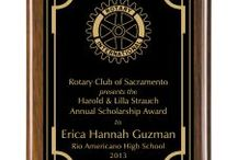 Premium Wood Award Plaques / Premium Wood Plaques We can work with you to create a one-of-a-kind design for a plaque that will be perfect for any occasion, from sports events to honoring community service or top sales. Piano Finish Walnut Plaque, Brown Roman Marble Finish, Rosewood Piano Finish, Genuine Red Alder and much more
