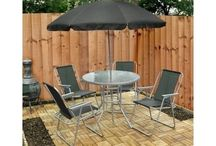 Set of 6 Garden-Patio Furniture's of  Chairs Table And Umbrella