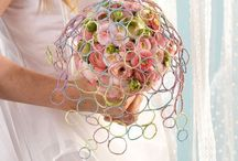 Tutorial for colorful bouquets / A playful idea for bouquets. Let's create paper rings! :)
