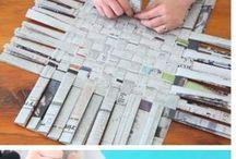 creare con la carta di giornali