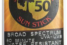 Sun Sticks For Face / These natural/organic dry-touch sticks are designed for an active life under the sun.