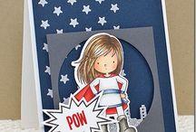 Card super heroes