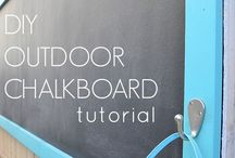 DIY OUTDOOR CHALK/MAGNET BOARDS