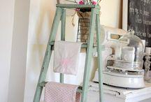 repurpose an old ladder, drabina