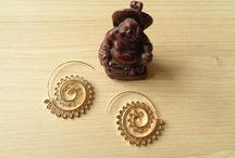 yoga boho earring spiral σκουλαρίκια σπιράλ / σκουλαρίκια σπειροειδή - spiral earrings - #yoga #boho #ethnic #jewelry #yogajewelry #earrings #σκουλαρίκια