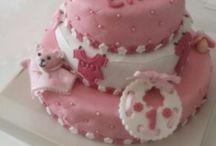 gateau anniversaire 1 an baby chloe / Gateau pate a sucre