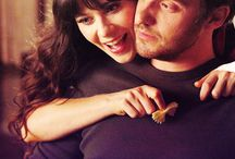 Nick Miller and Jess Day, Schmidt and Cece and Winston