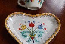 Per la casa / Oggetti in ceramica decorati a mano da utilizzare tutti i giorni
