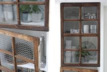 old windows, baskets and doors