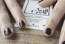 Nail Crew UK Fresh out of the chair.  #opigelpolish #ladyinblack #halloweenglamour #brighton #nailsoftheday #nailcrewuk #beautyblogger #instanails #nailsofinstagram