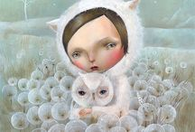 nicoletta ceccoli / Nicoletta Ceccoli is a San Marinian artist who is known for her richly detailed, dreamlike work. She was born in and still lives in the Republic of San Marino and studied animation at the Institute of Art in San Marino, Italy. She has illustrated many books, most recently published is Cinderella. Her work has been exhibited and sold internationally.