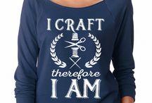 SignatureTshirts Indigo 'I Craft Therefore I Am' Scoop Neck Raglan Tee