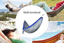 Travel Camping Hammock with Tree Straps & Carabiners