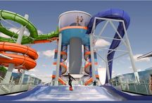 "Waterslides at Sea / Try this one out....The biggest water slides at sea! Not just for kids...the ""big"" kids love it too."