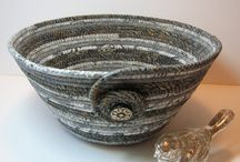 Coiled baskets/bags
