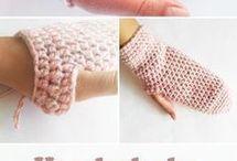 hačkované rukavice