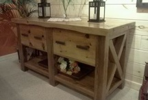 Indoor Barn Wood Furniture / Our customized barn wood furniture made from 100% Michigan reclaimed barn wood.