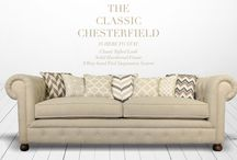 THE CHESTERFIELD / The Chesterfield conjures visions of English libraries or men's clubs, with its tufted back, high rolled arms, and tufted facade.  Our take on this classic brings in enormous charm to your living room with this beautifully handcrafted masterpiece by one of our 4th Generation sofa  artisans.
