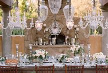 Chandeliers / Inspiration for chandelier decor for weddings and events. Sonoma Napa Wine Country Florist & Event Design. Destination weddings. Corporate & Social events. www.fleursfrance.com