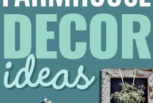 Farmhouse DIY decor ideas / Ideas to get that beautiful farmhouse style as seen on Joanna Gaines' tv show.  Lots of DIY decor ideas for that farmhouse style on a budget.