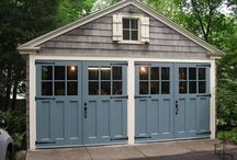 The New Garage/Work Shop / Collection of ideas & inspiration for garage/shop building - metal pole building / free standing garage / carriage house style / wish-list for tools and storage solutions / hopefully in a pretty package!