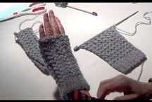 luvas em tricot