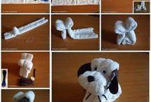 dobradura com toalhas
