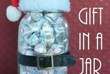 gift in jar christmas