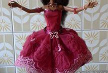 Roupa de orixà para boneca Barbie