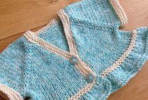 Boleros tejidos palillos y crochet