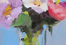 Schilderijen bloemen abstract