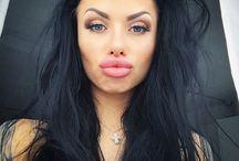 Anna Chernyakhovskaya - Анна Черняховская / Model, Russia, Hair, lips, tattoo