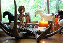 altars, medicine wheels and mandalas / altars and medicine wheels made and found