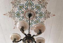 """dekorationsmålning / dekorativt måleri, ådringsmålning, marmorering. woodgraining and marbling, Swedish """"kurbits"""" folk art."""