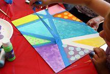 Kunst / Kunst als thema. De kinderen gaan zelf creëren en maken hedendaagse kunst.