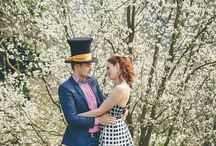 Alice in Wonderland - Catoski Photoart photo session / Fairytale save-the-date session. Alice in Wonderland as seen by @catoskiphotoart. Decorations: @danielle_design. #save-the-date #aliceinwonderland #wonderlandwedding #lovers #fairytale #prematrimoniale #esession #themed_photoshoot #madhatter #teapot #vintagedecorations #teaparty #rabbithole #ilpaesedellemeraviglie #taraminunilor