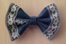 denim bow