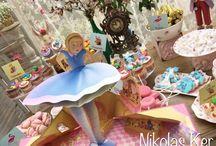 "Candy Bar ""Alice in Wonderland..."" / Baptism, candybar, decoration, event"