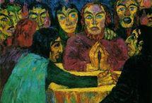 Expresionismus - Die Brücke (The Bridge) / Zakládající členové: Fritz Bleyl, Erich Heckel, Ernst Ludwig Kirchner a Karl Schmidt-Rottluff.  Pozdější členové: Emil Nolde, Max Pechstein a Otto Mueller.